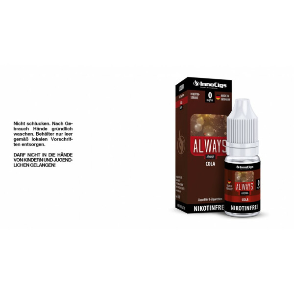 Always Cola - InnoCigs Liquid für E-Zigaretten 0mg/ml