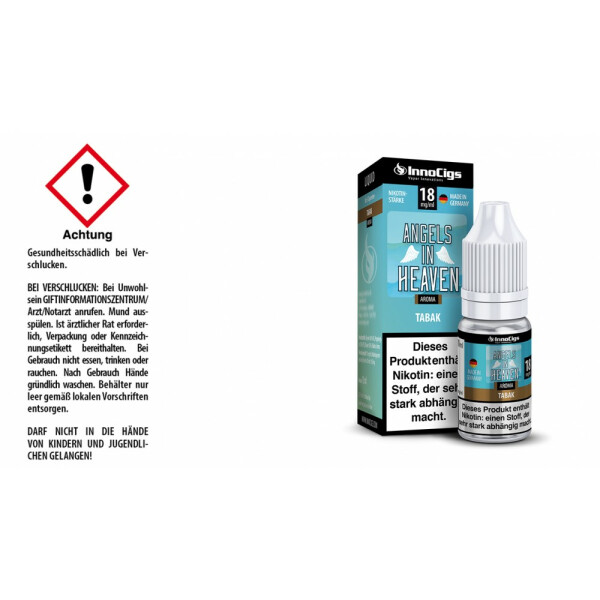 Angels in Heaven Tabak Aroma - InnoCigs Liquid für E-Zigaretten 18mg/ml
