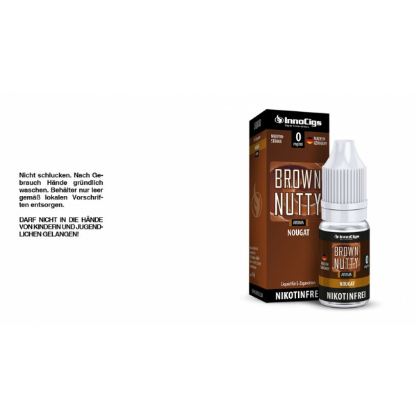 Brown Nutty Nougat Aroma - InnoCigs Liquid für E-Zigaretten 0mg/ml