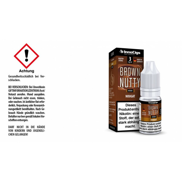 Brown Nutty Nougat Aroma - InnoCigs Liquid für E-Zigaretten