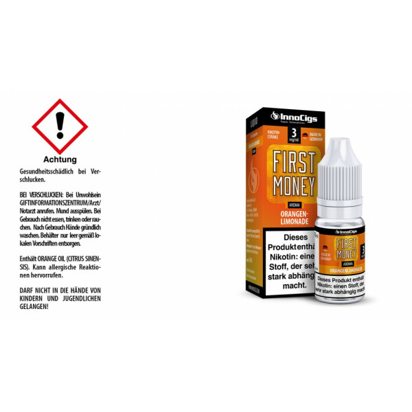 First Money Orangenlimonade Aroma - InnoCigs Liquid für E-Zigaretten
