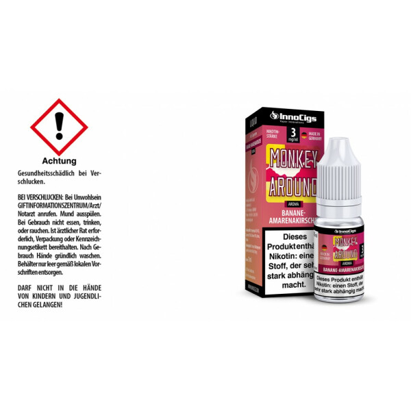 Monkey Around Bananen-Amarenakirsche Aroma - InnoCigs Liquid für E-Zigaretten 3mg/ml