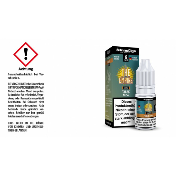 The Empire Tabak Nuss Aroma - InnoCigs Liquid für E-Zigaretten 6mg/ml