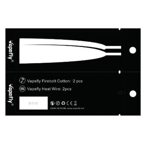 Vapefly 2x Firebolt Cotton + Prebuild Ni80 Fused Clapton...