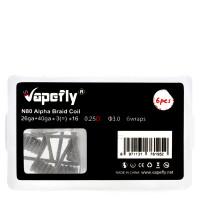 Vapefly 6x Prebuild Ni80 Alpha Braid Coil 0.25 Ohm