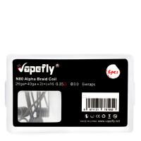 Vapefly 6x Prebuild Ni80 Alpha Braid Coil 0.35 Ohm
