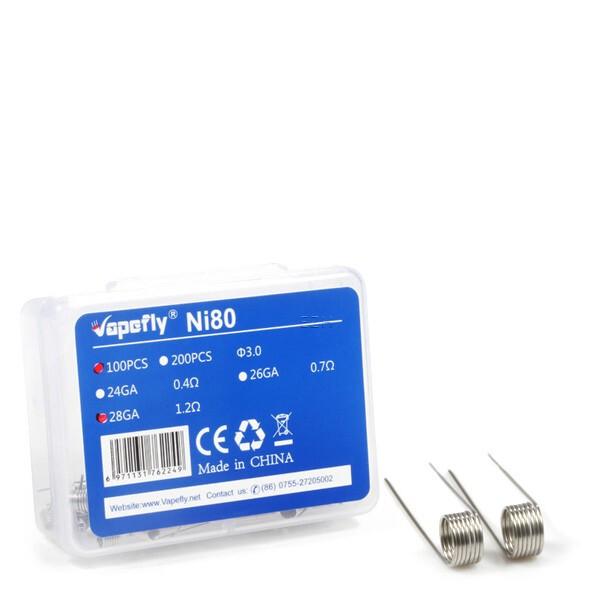 Vapefly 100x Ni80 24GA Prebuild Coil