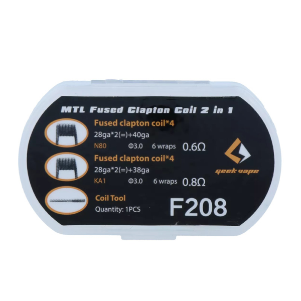 GeekVape 8x MTL Fused Clapton Coil 2 in1 Set F208