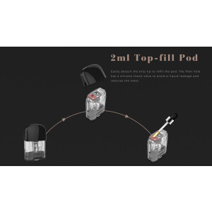 Uwell Caliburn G Cartridge 2ml - ohne Coils (2 Stück...
