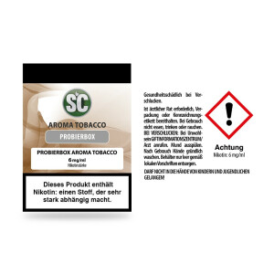SC -Tobacco Probierbox 6 mg/ml 10er Packung