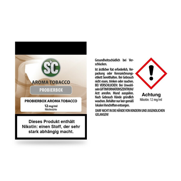 SC - Tobacco Probierbox 12 mg/ml 10er Packung
