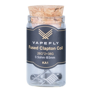 Vapefly 6x Prebuilt KA1 Fused Clapton Coil 0.5 Ohm...
