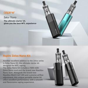 Aspire Zelos Nano + Nautilus Nano Kit