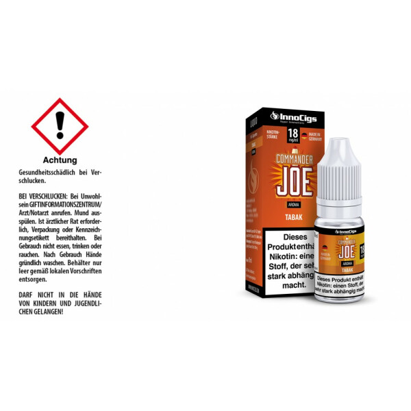 Commander Joe - Tabak - InnoCigs Liquid für E-Zigaretten 18 mg/ml