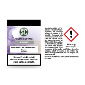 SC - Liquid Gourmet Probierbox 10x10ml 3 mg/ml