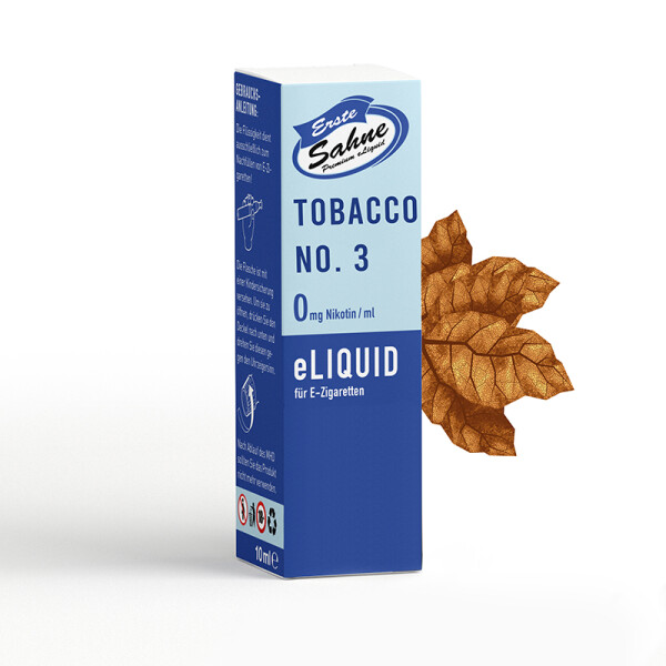 Erste Sahne Liquid - Tobacco No. 3 - 0 mg/ml